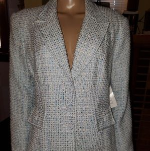 NWT, TOGETHER brand, Size18, blue & white blazer.